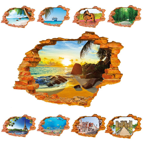 SCENIC 3D WALL DECALS - Collection A