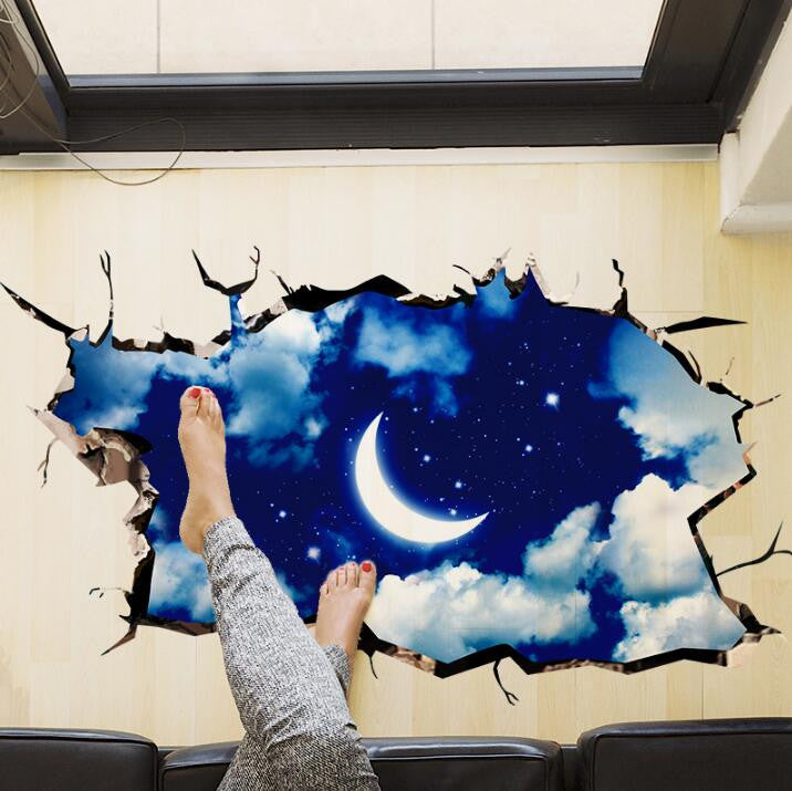 New 3D Night Sky Wall Decal