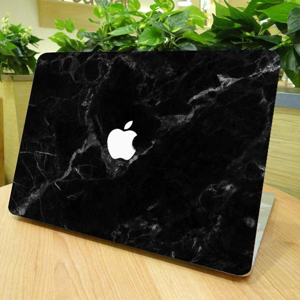 Unique Black Marble Grain Cover Decal For MacBook