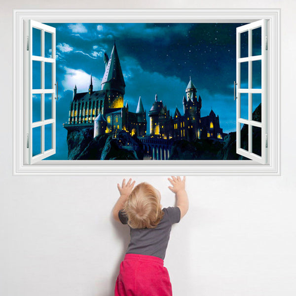 3D Harry Potter Hogwarts Castle Decal