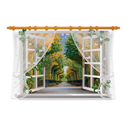 3D Open Window Scenes Wall Decorations