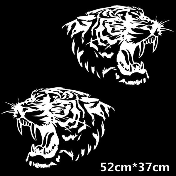 Fierce Tiger Head Roaring Car Decal