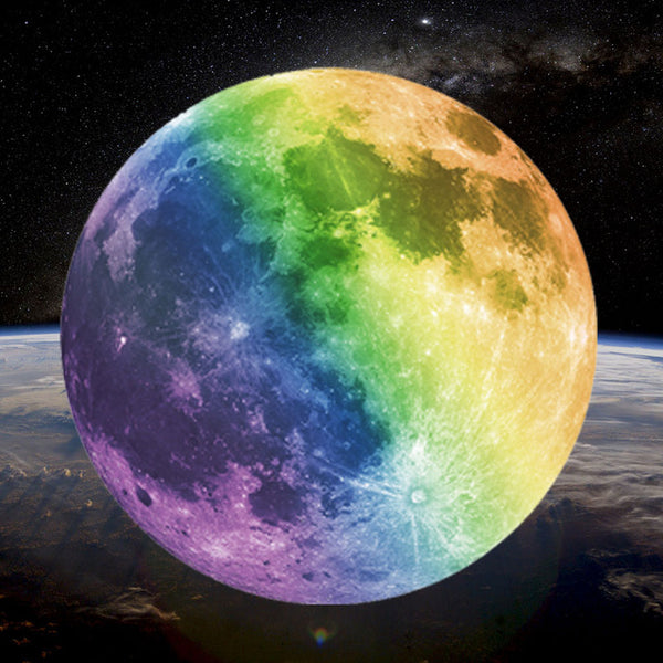 Multicolor Luminous DIY Moon Wall Decor