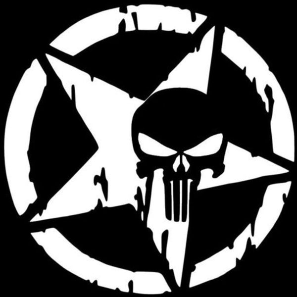 Cool Punisher Skull Car Motorcycle Decal