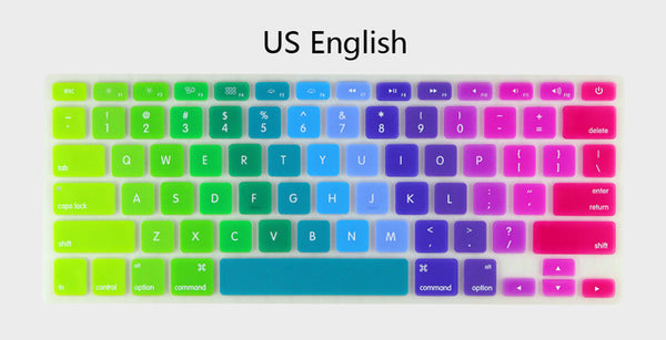 Rainbow Silicone Protective Keyboard Cover for MacBook Air 13
