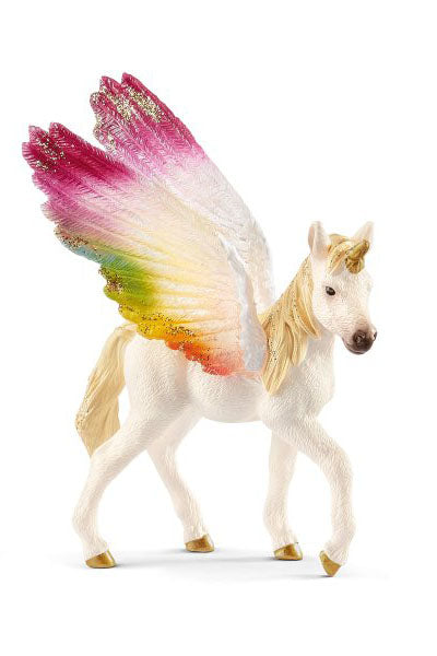 Winged Rainbow Unicorn Foal - Schleich