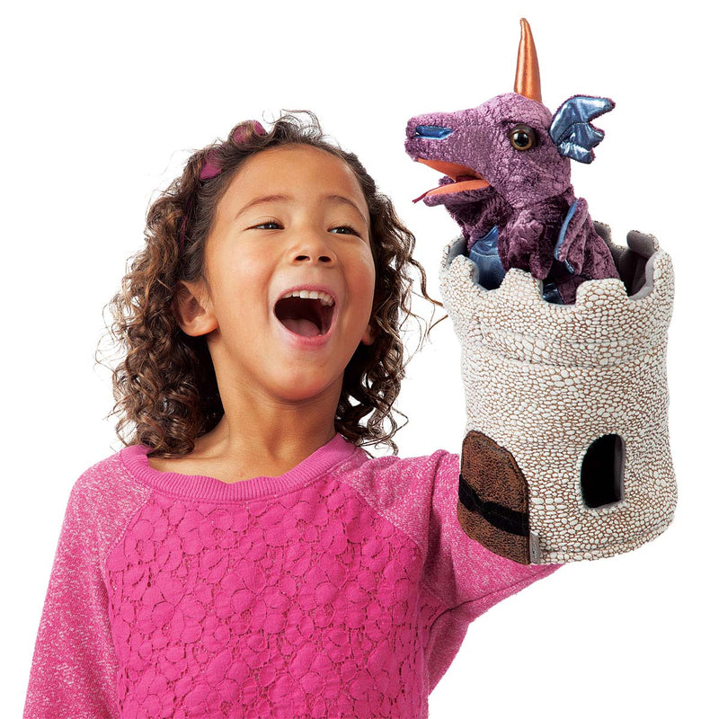 Dragon In A Turret Puppet