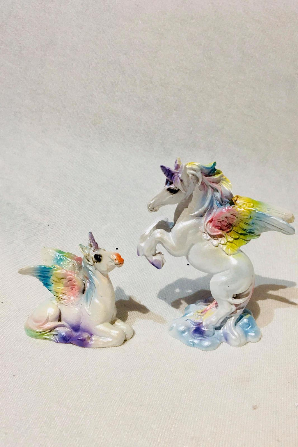 Rainbow unicorn figurines