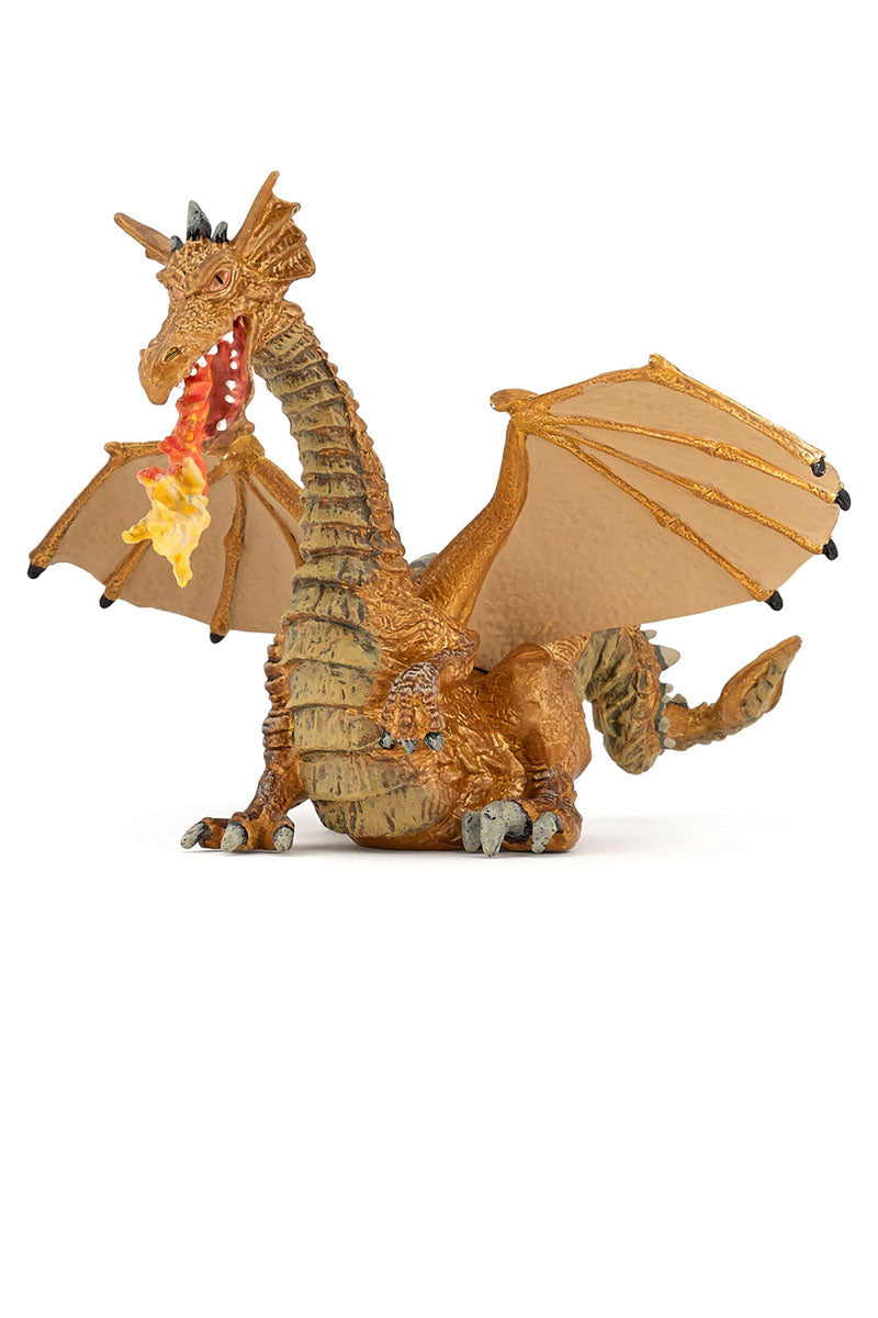 Gold Dragon With Flame - Papo