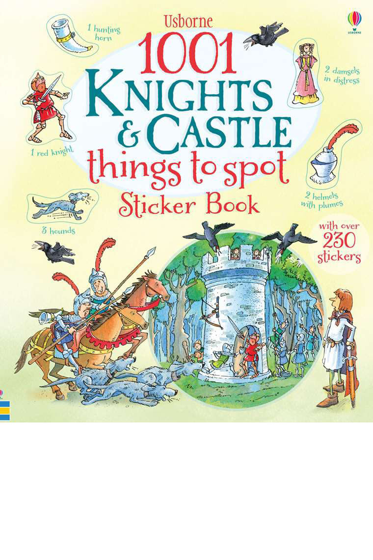 1001 KNIGHTS AND CASTLES TO SPOT STICKER BOOK