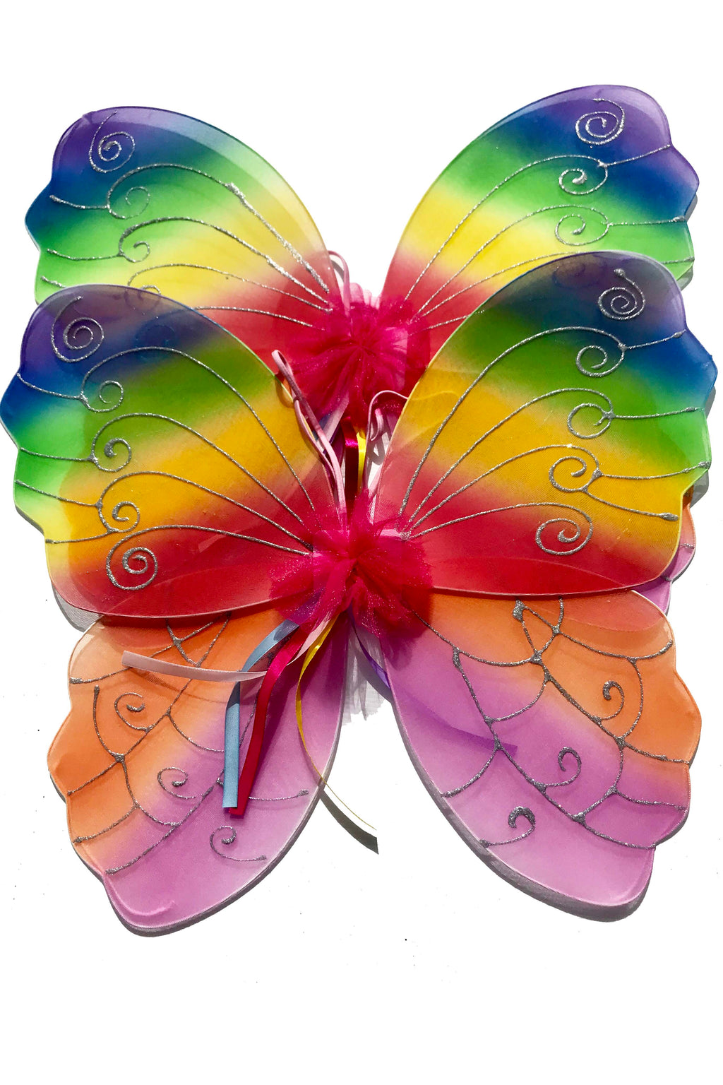 Rainbow Fairy Wings Wired