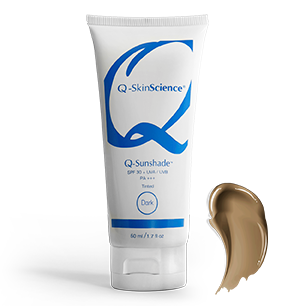 Q-Sunshade SPF 30+ UVA/UVB PA+++ Dark Tinted Sunscreen