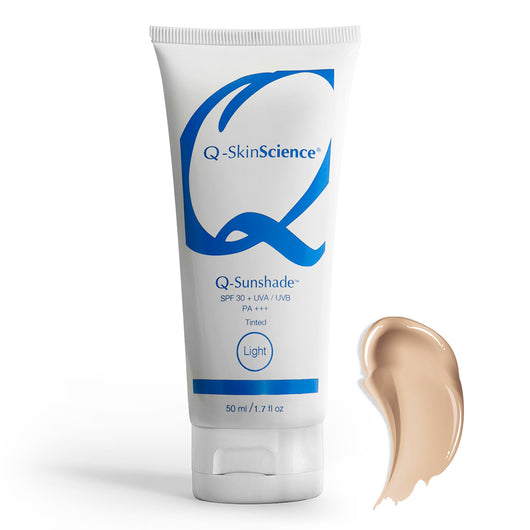 Q-Sunshade SPF 30+ UVA/UVB PA+++ Light Tinted Sunscreen