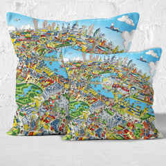 Throw Cushion - London Looking East in Full Colour