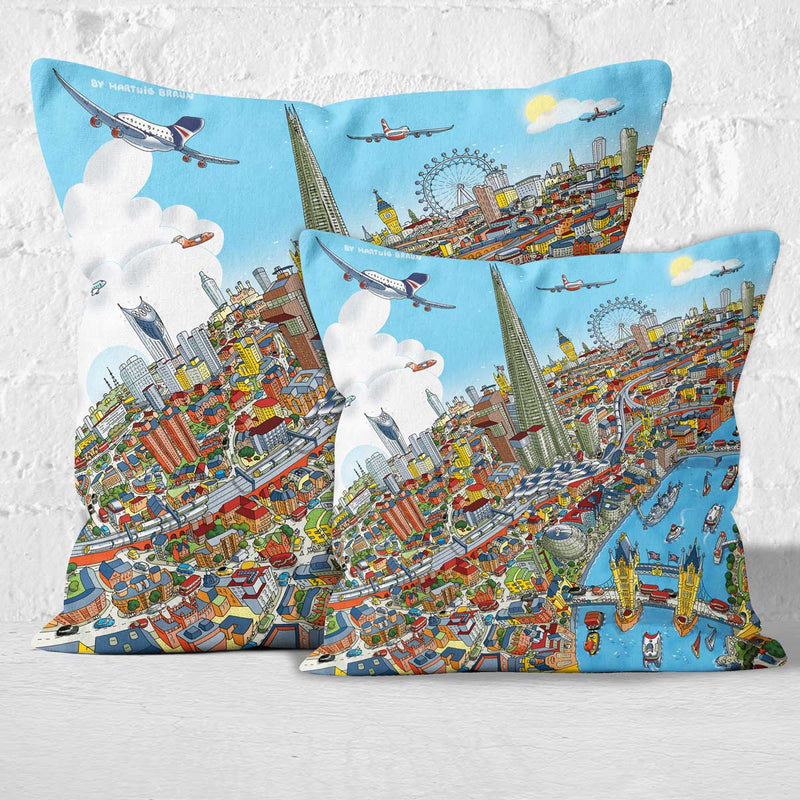 Throw Cushion - London Around The Shard in Full Colour