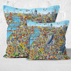 Throw Cushion - St Paul's & The City of London in Full Colours