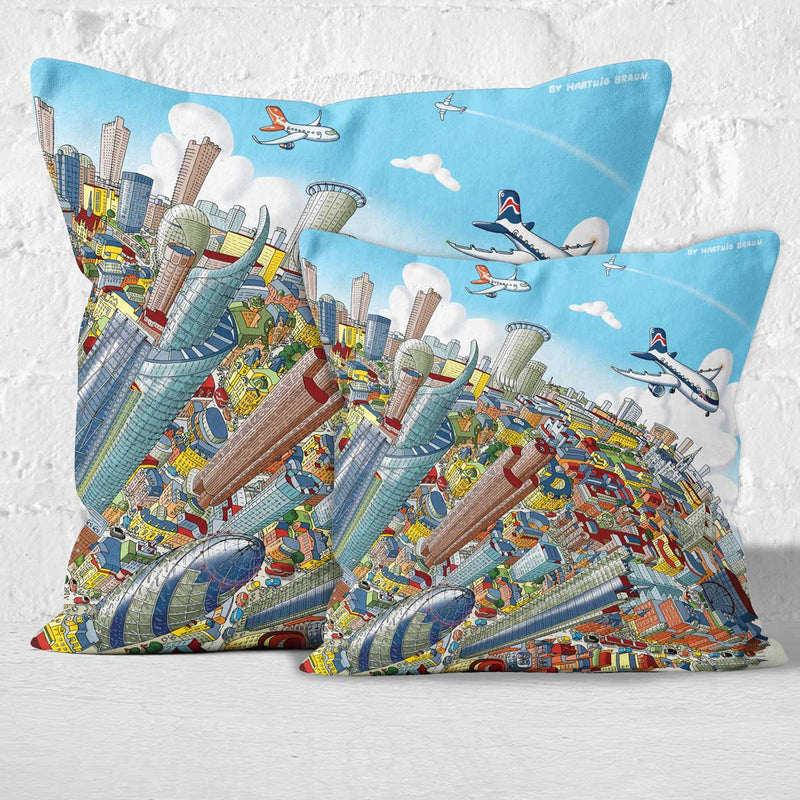 Throw Cushion - The City of London in Full Colours