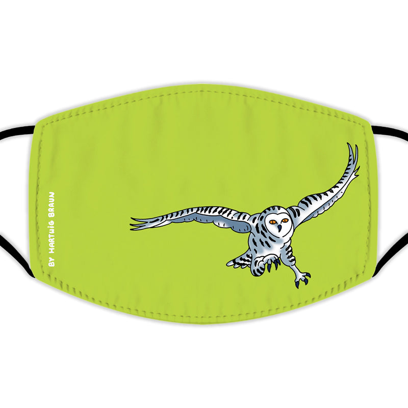 Face Mask With Filters - Arctic Owl