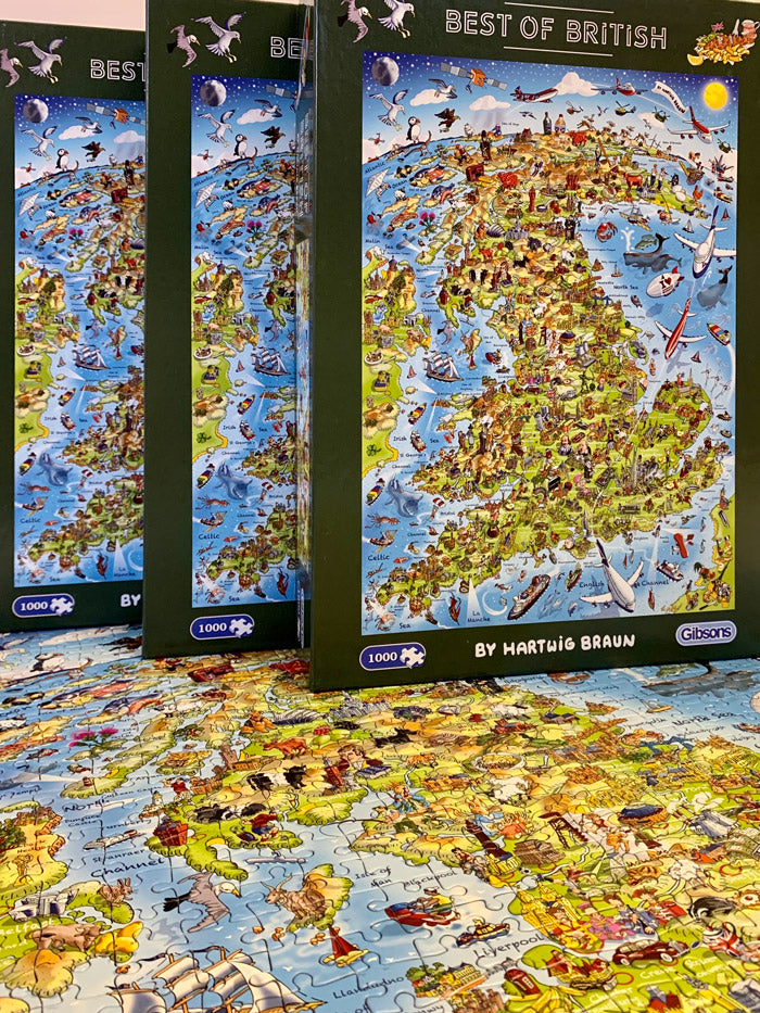 1,000 Piece Jigsaw Puzzle - Best of British / Jolly Britain (Gibsons)