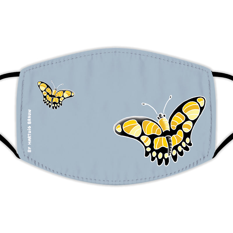 Face Mask With Filters - Butterflies