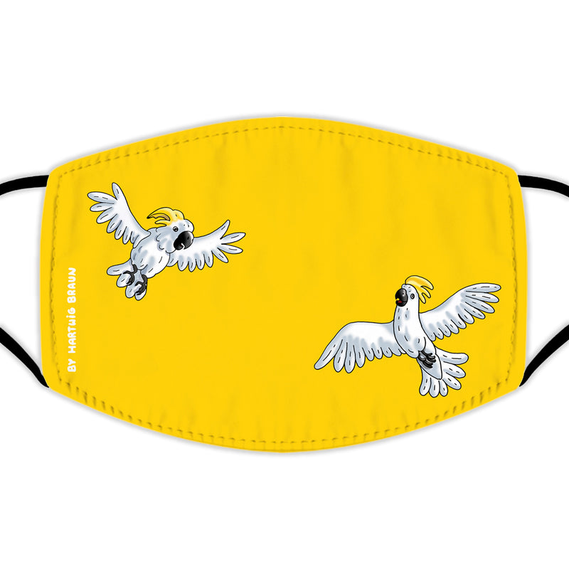 Face Mask With Filters - Two Cockatoos