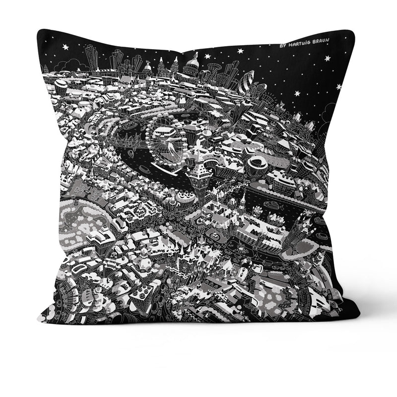 Throw Cushion - London Looking East in Black & White