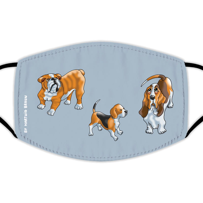 Face Mask With Filters - Three Dogs