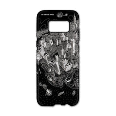 Smartphone 3D Case - New York, Manhattan in Black & White