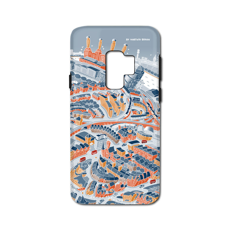 Smartphone 3D Case - London Battersea in Retro Colours