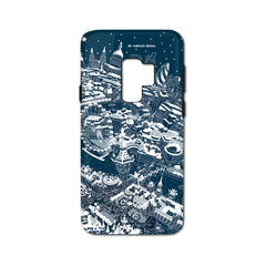 Smartphone 3D Case - London Around Big Ben in White on Blue