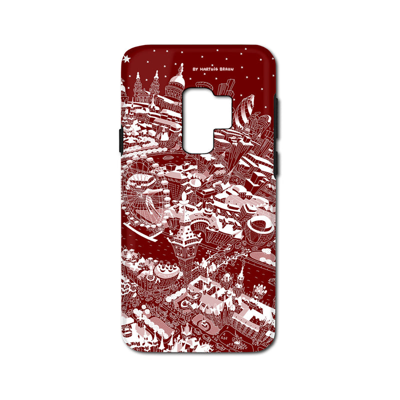 Smartphone 3D Case - London Around Big Ben in White on Red