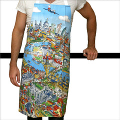 Adult Apron - London Skyline in Full Colour