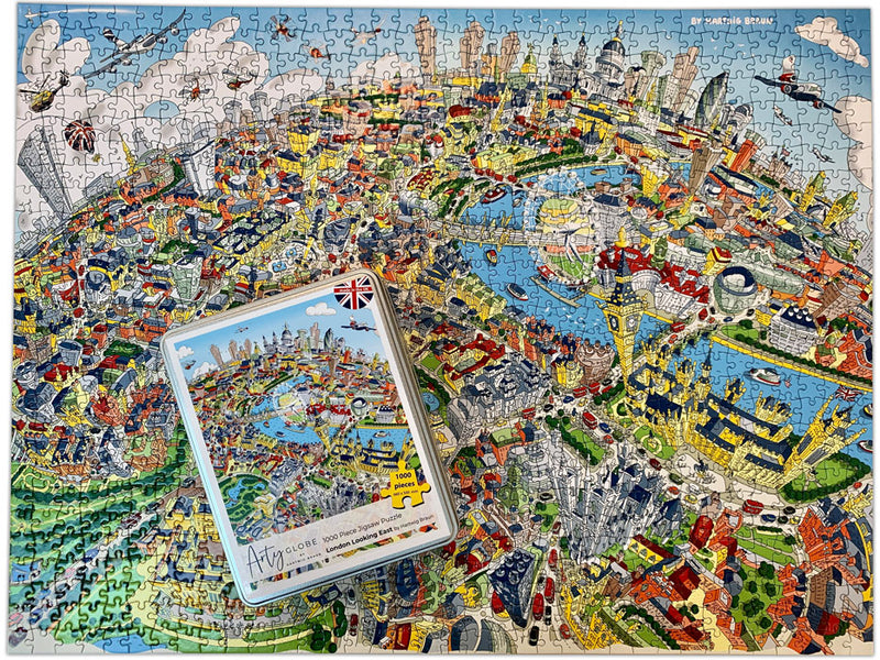 New & Exclusive - 1,000 Piece Jigsaw Puzzle in Tin Box - London Looking East