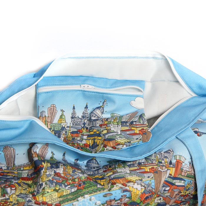 Large Zipped Tote - London Looking East in Full Colour
