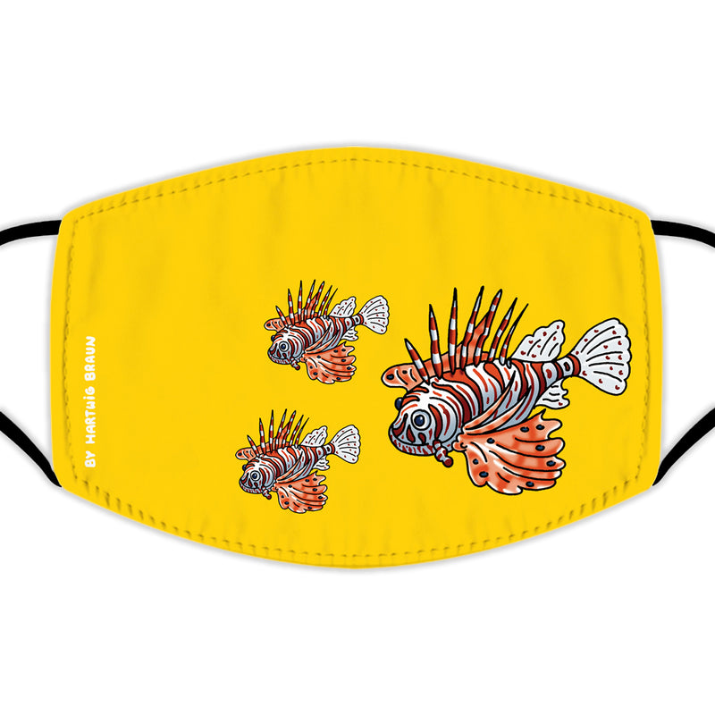 Face Mask With Filters - Lionfish