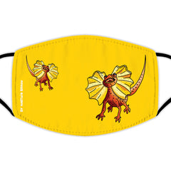 Face Mask With Filters - Frilled Lizards