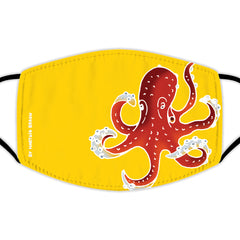 Face Mask With Filters - Large Octopus