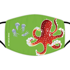 Face Mask With Filters - Large Octopus & Jellyfish