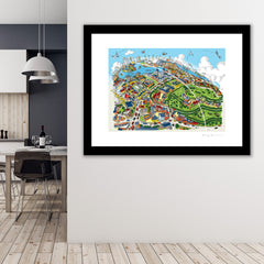 Large Art Print - Maritime Greenwich - Full Colours (Open Edition)
