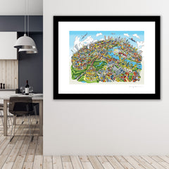 Large Art Print - London Looking East - Full Colours (Open Edition)