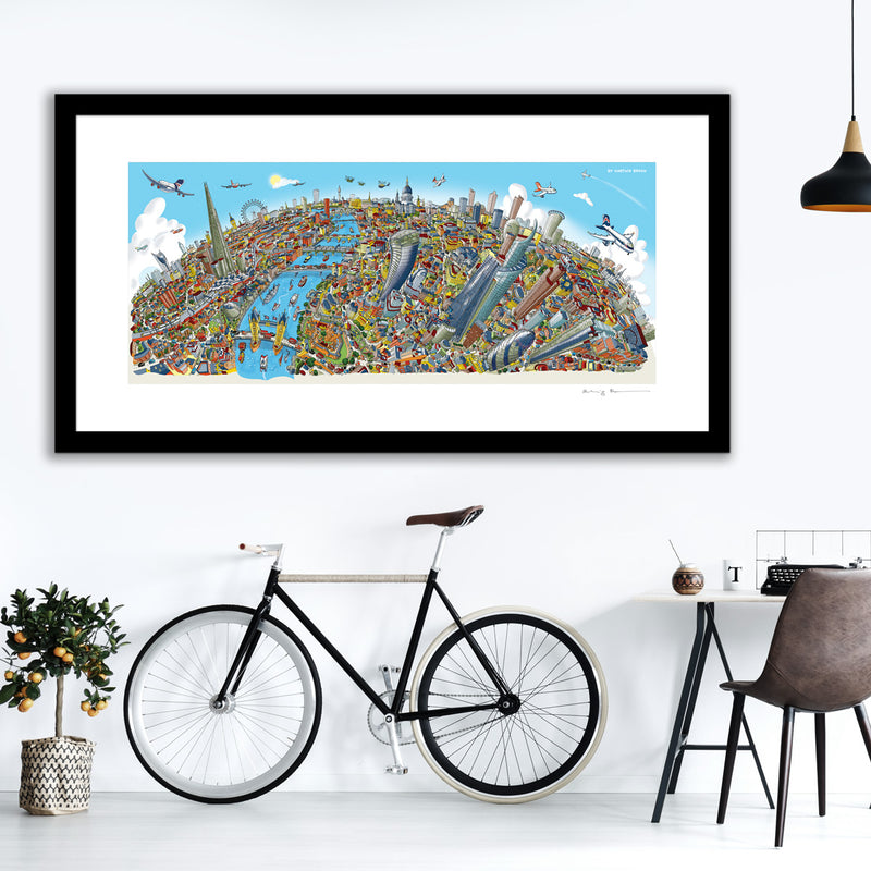 Large Art Print - London Looking West - Full Colour (Open Edition)
