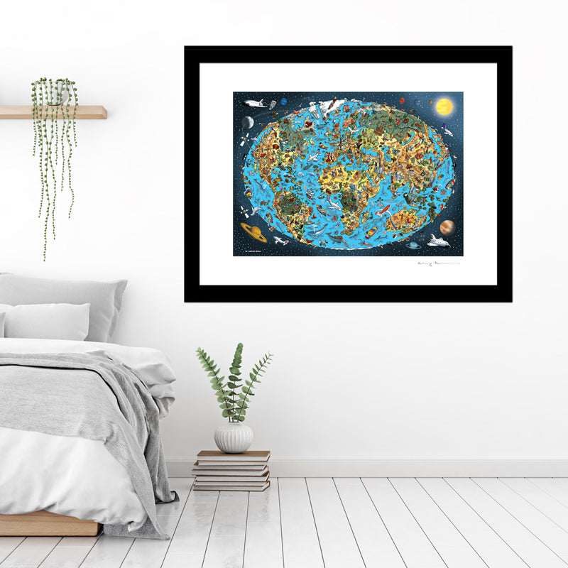 Large Art Print - Our Wonderful Planet - Full Colours (Open Edition)