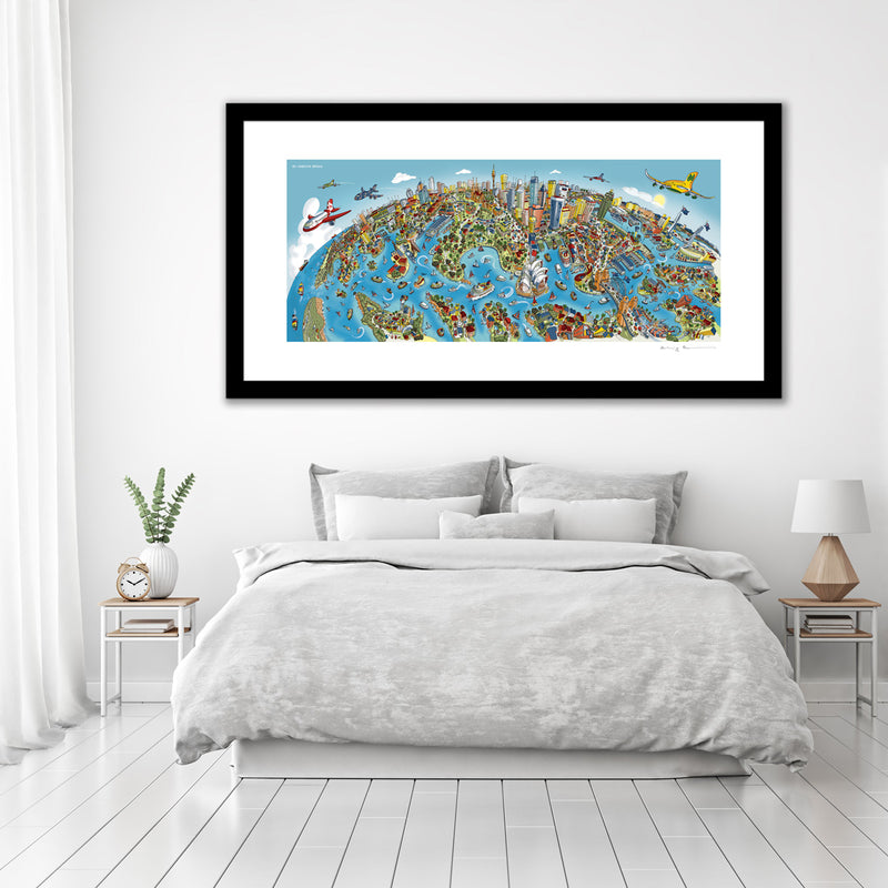 Large Art Print - Sydney Looking South - Full Colour (Open Edition)