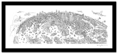 Sydney Looking South - Panoramic Art Print 60 x 25 cm (Limited, Signed)