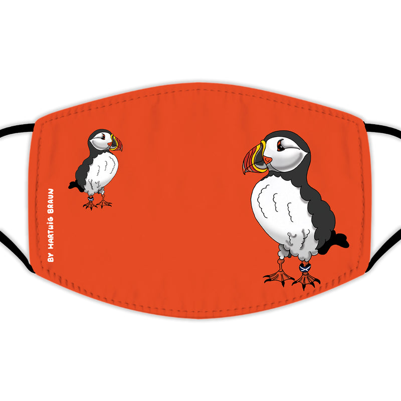 Face Mask With Filters - Two Puffins