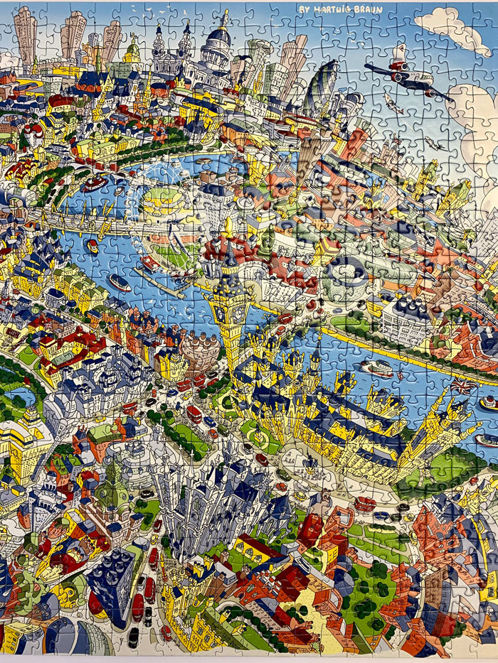 1,000 Piece Jigsaw Puzzle in Tin Box - London Looking East