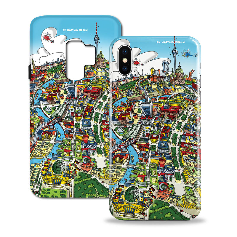 Smartphone 3D Case - Maritime Greenwich in Retro Colours