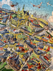 Panoramic 1,000 Piece Puzzle - Paris Looking West