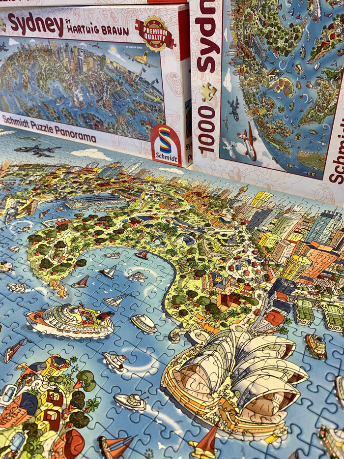 Panoramic 1,000 Piece Puzzle - Sydney Looking South in Full Colour
