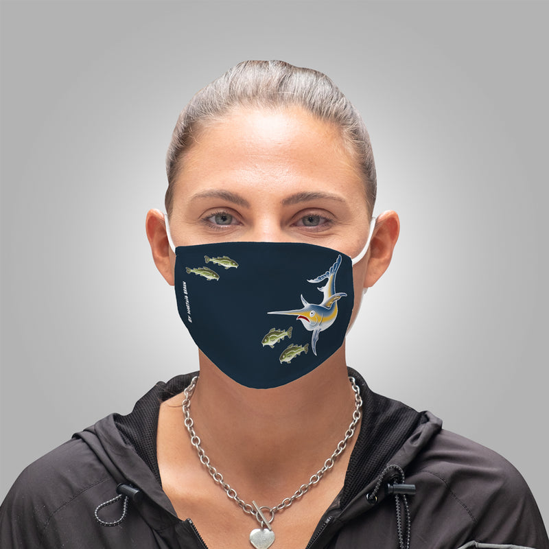 Face Mask With Filters - Swordfish & Cods